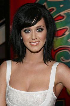 Teased Medium Black Hair - Katy Perry Hairstyles