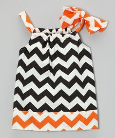 Take a look at this Orange & Black Zigzag Dress - Infant & Toddler on zulily today!