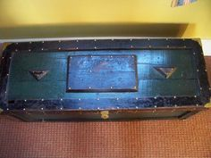 Antique Wooden Carpenter's Tool Box Chest - Folk Art