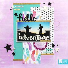 Hello Adventure Layout - Scrapbook.com
