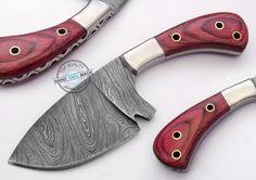 "7.50"" Custom Made Beautiful Damascus steel skinning hunting Knife (AA-0282-8)…"