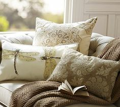 Serra Pillow Collection #potterybarn use in living room