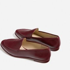 Image 5 of SINGLE COLOURED LOAFERS from Zara