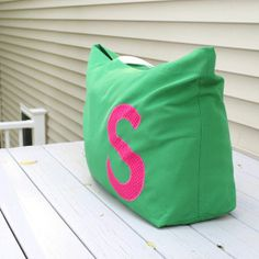 Extra Large Beach Bags | Oversized Beach Bag Extra Large Tote Monogram by MaidenJane, $55.00