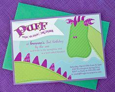 Dragon Birthday Printable Invitations by FrogPrincePaperie on Etsy, $13.50