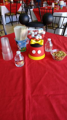 Mickey Mouse Party Decorations, Mickey Mouse Centerpiece, Mickey Mouse Parties, Mickey Party, Fiesta Mickey Mouse, Mickey Mouse Baby Shower, Baby Mickey, Mickey 1st Birthdays, Mickey Mouse Clubhouse Birthday