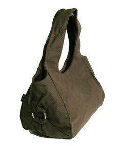 vegan BROWN HOBO Canvas roomy handbag with by estelladesign, $94.00