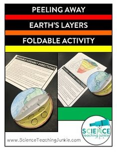 Science vocabulary solutions classroom ideas by grade pinterest peeling away earths layers foldable activity fandeluxe Image collections