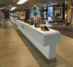 ALDO, Galeries Lafayette, designed by Pentagram partner Daniel Weil Retail Design, Aldo, Liquor Cabinet, Display, Inspiration, Furniture, Home Decor, Floor Space, Biblical Inspiration