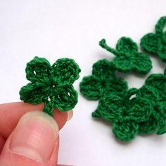 Lucky+Clover+Crochet+Shamrock+Lot+by+KnellyBean+on+Etsy,+$4.00