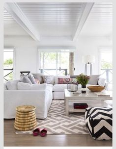 Sectional and ceiling