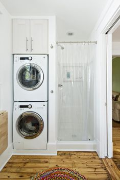 Small laundry room ideas stackable washer dryer laundry room traditional with laundry storage laundry storage stacked washer and dryer Laundry Room Bathroom, Small Laundry Rooms, Laundry Room Organization, Bathroom Layout, Bathroom Storage, Bathroom Ideas, Remodel Bathroom, Bathroom Cabinets, Bathroom Small