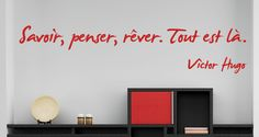 Sticker Citation Savoir Penser Rêver par Hugo