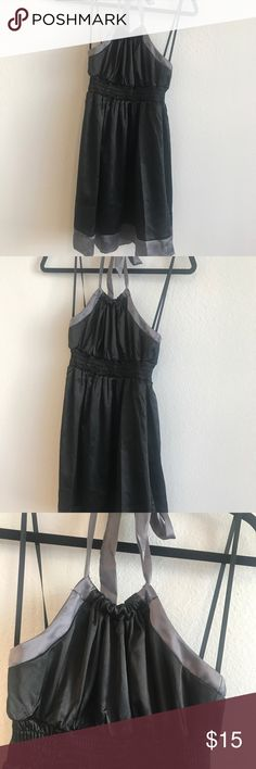 Black halter Guess dress Size M. Black and gray. Good condition. Guess Dresses Mini