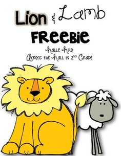 Teach your kiddos all about the lions and the lambs of March with this FREEBIE! Included: *Mini-Posters describing each animal's associated weather *Tally Sheet *Graphing Sheet *Prediction Sheet A fun way to get some math and science in all month long! Father's Day Activities, Graphing Activities, Kindergarten Activities, Spring Activities, Lamb Craft, March Crafts, Spring Crafts, Lion And Lamb, Directed Drawing