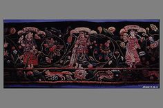 Valance  Date: 1580–1620  Culture: Swiss Medium: Silk and wool on wool  Dimensions: L. 12 1/2 x W. 64 1/2 inches (31.8 x 163.8 cm)  Classification: Textiles-Embroidered  Accession Number: 17.29.13