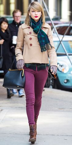 Look of the Day - March 30, 2014 - Taylor Swift in J Brand from #InStyle
