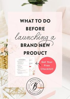 Girlboss / Design / Tips What to do before launching a brand new product. Business Launch, Small Business Marketing, Starting A Business, Business Planning, Business Tips, Online Business, Business Entrepreneur, Creative Business, Entrepreneur Ideas