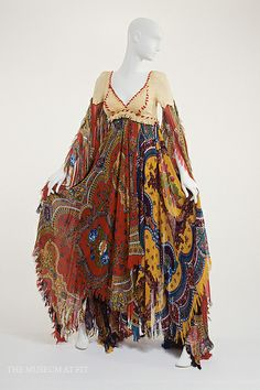 Floral print dress dress with chamois skin bodice | Giorgio di Sant'Angelo | United States, 1971 | IMPACT: 50 Years of the CFDA  (February-April 2012) | The Museum at FIT, New York