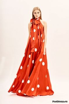 happy monday amazing red long silk dress with white dots a bow collar from collection by 49 # - Dress For Women Dot Dress, Silk Dress, Dress Skirt, Dress Up, Women's Dresses, Fashion Dresses, Summer Dresses, Mode Chic, Mode Inspiration