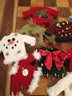 Ugly Christmas sweater ornaments made from felt. | Ugly Xmas ...