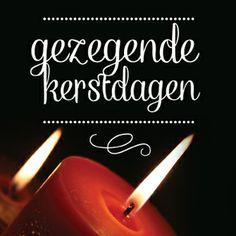 Christelijke kerstkaart 'Gezegende kerstdagen' ontworpen door: HEEGoodies.com