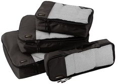 AmazonBasics 4-Piece Packing Cube Set - Small, Medium, Large, and Slim * This is an Amazon Affiliate link. Click on the image for additional details.