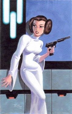 Leia by Bruce Timm