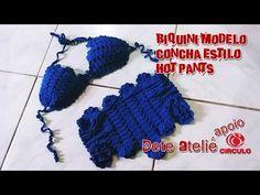 Biquíni Crochê Modelo Concha (estilo Hot Pants) by Claudete Azevedo