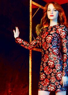 Emma Stone for The Hollywood Reporter top stylist (April 2015)