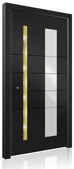 RK-5100 Modern Entry Door, Modern Exterior Doors, Contemporary Front Doors, Modern Contemporary, Interior And Exterior, Pivot Doors, Panel Doors, Entry Doors, Aluminium Front Door