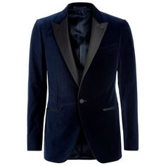 Lanvin Velvet Tuxedo Jacket ($2,590) ❤ liked on Polyvore featuring mens, men's clothing and men's suits