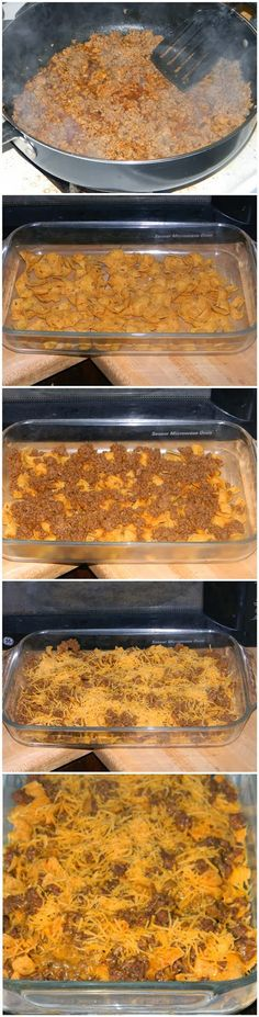 Walking Taco Casserole Recipe... Great for potlucks, Super Bowl party, family get togethers, or just because...
