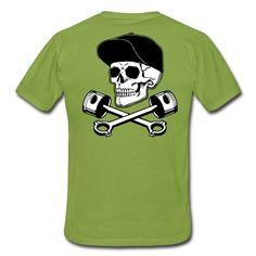 T-Shirt Totenkopf und Kolben