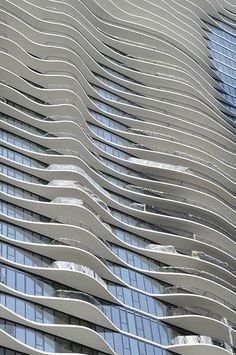 The Aqua Tower is located at 225 North Columbus Drive in Chicago.