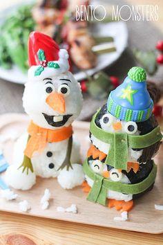 Olaf & Penguin Christmas Bento