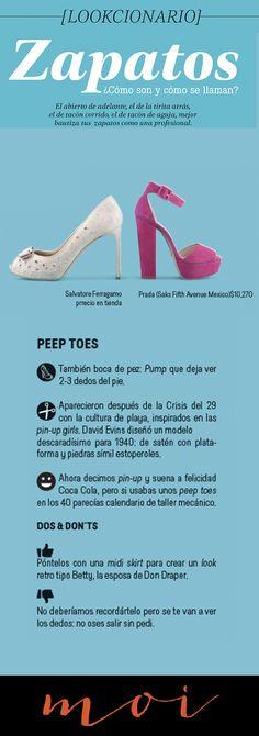 Zapatos ¿Cómo son y cómo se llaman?