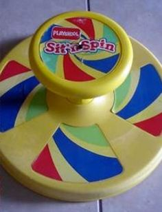 The sit n spin, probably not the safest toy but it was fun, it was no different than what we do in our office chairs today :) - Kristi Savat - Deep Nostalgia