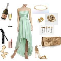 """Mint Gold Night"" by efzin on Polyvore"