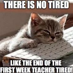 A teacher's face when... she is end-of-the-first-week-teacher tired.