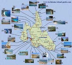 """Képtalálat a következőre: """"fteri beach kefalonia map"""""""