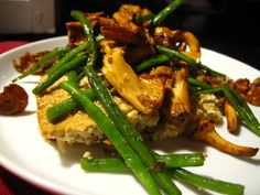 tofu casserole with green beans and mushrooms