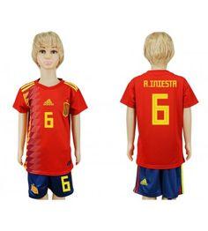Spanien Alvaro Morata 7 Replika Babytøj Hjemmebanetrøje til Børn VM 2018 Soccer Kits, Kids Soccer, Isco, Football Shirts, Football Players, Soccer Jerseys, Soccer Online, Jordi Alba, Jersey Uniform