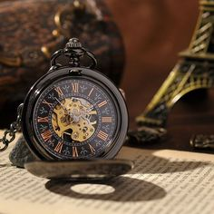 Elegant and durable, this finely crafted skeleton pocket watch will accentuate your outfit exceptionally well. Watches are a powerful tool that not only allow you to tell time, but also communicate a
