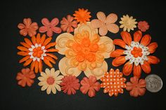 Lot 20+ pcs ORANGE Prima Mulberry Flower Petals Scrapbook Craft FREE SHIP #PrimaMarketing