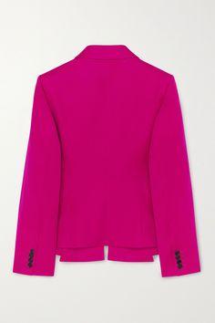 Fuchsia Blazer aus Wollgabardine | Nina Ricci | NET-A-PORTER Blazer Jacket, Menswear, Wool, Sweaters, Jackets, Pants, Collection, Fashion, Silk
