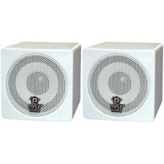 PYLE HOME PCB3WT 3 100-Watt Mini-Cube Bookshelf Speakers (White)