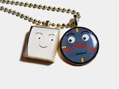Don't Hug Me I'm Scared Quarter Charm Necklace by LenorasGarage