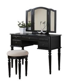 Bobkona St. Croix Collection Vanity Set with Stool, Black BOBKONA http://smile.amazon.com/dp/B005CWHY7I/ref=cm_sw_r_pi_dp_AOkcub1YQ0Q1Q