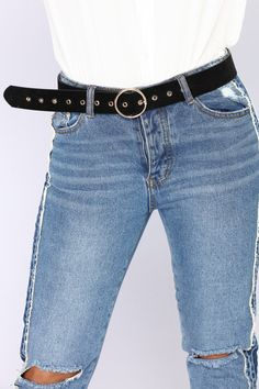 More From Me Leather Belt - Black